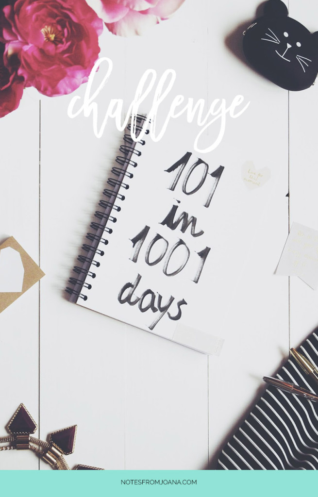 101 Things In 1001 Days Challenge