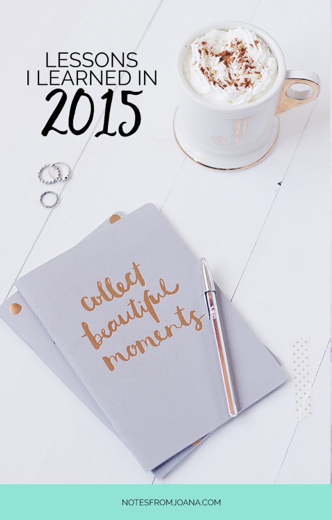 15 Lessons I Learned In 2015