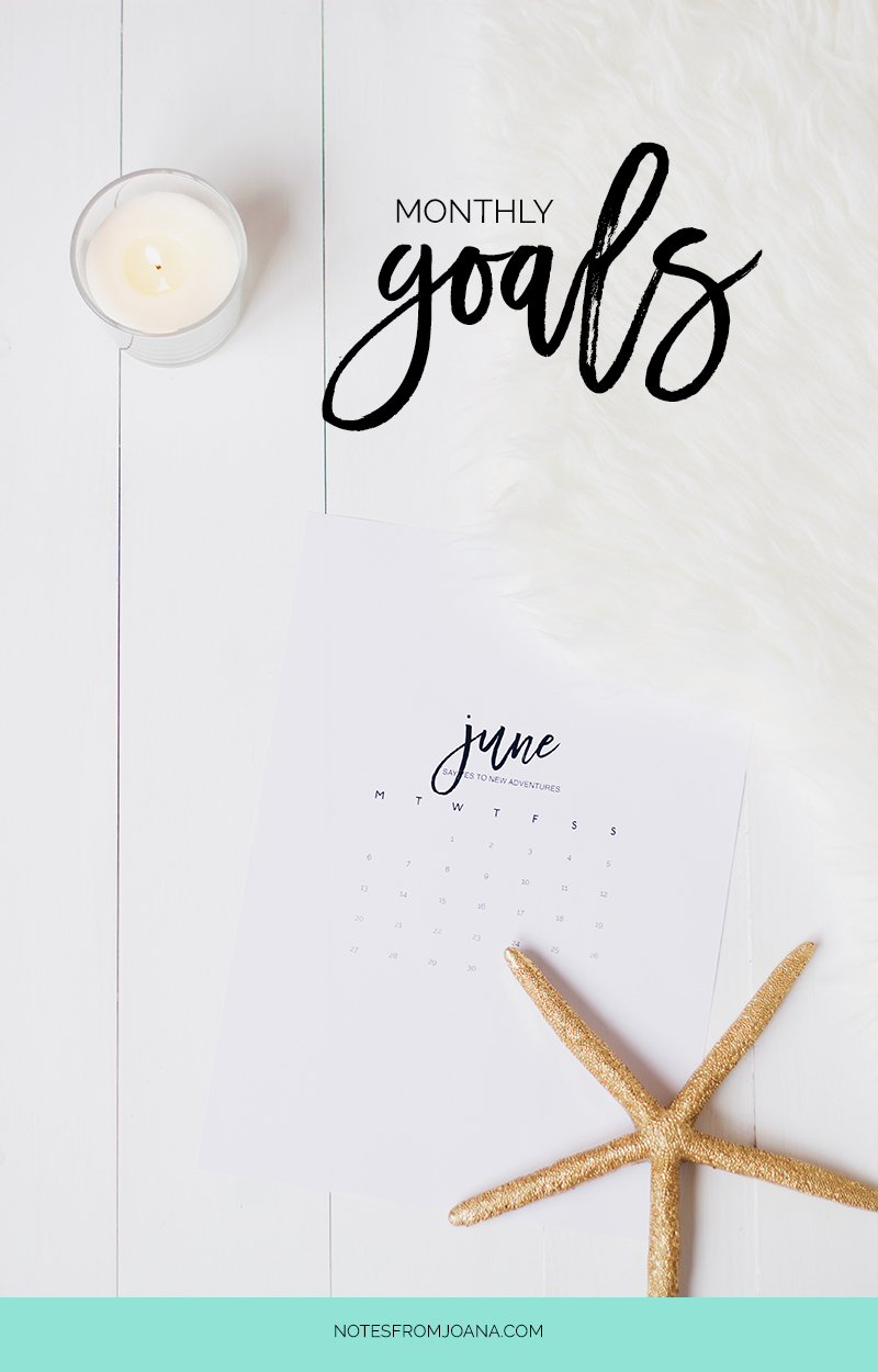 3 Goals for June | Setting small goals boosts our motivation and means a better chance of actually accomplishing them. Click through & find mine!