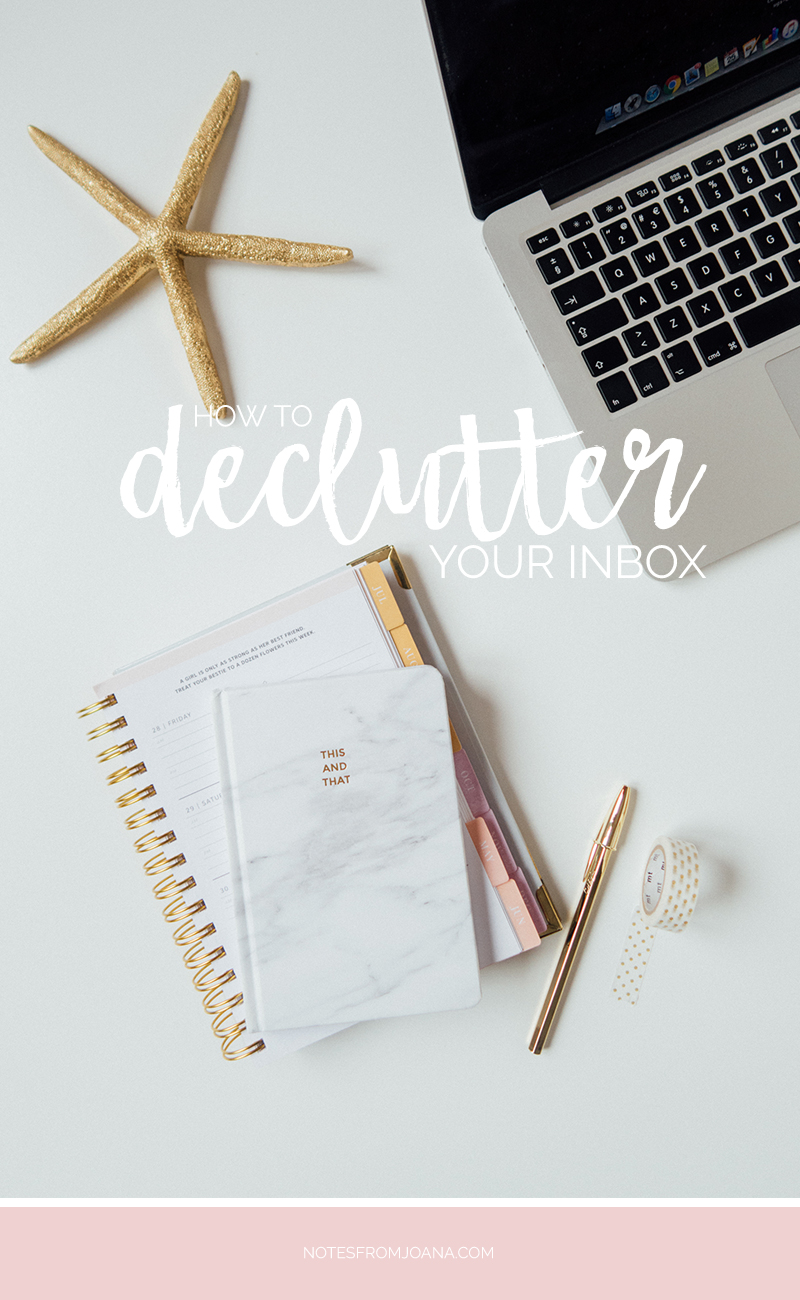 4 Tips On How To Declutter Your Inbox | Inbox Zero | Email Inbox | Click through to read more or pin for later!