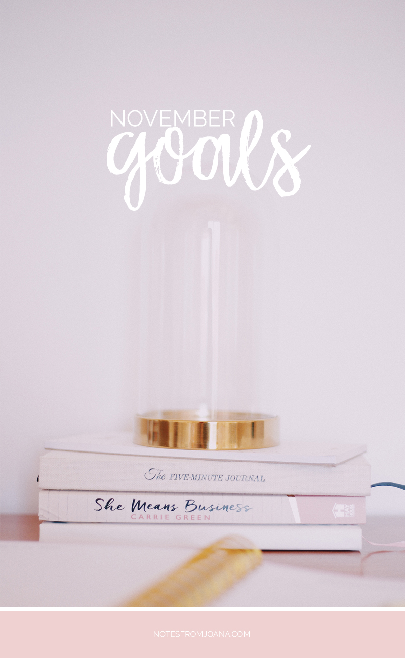 November Goals | Setting small goals boosts our motivation and means a better chance of actually accomplishing them. Click through & find mine!